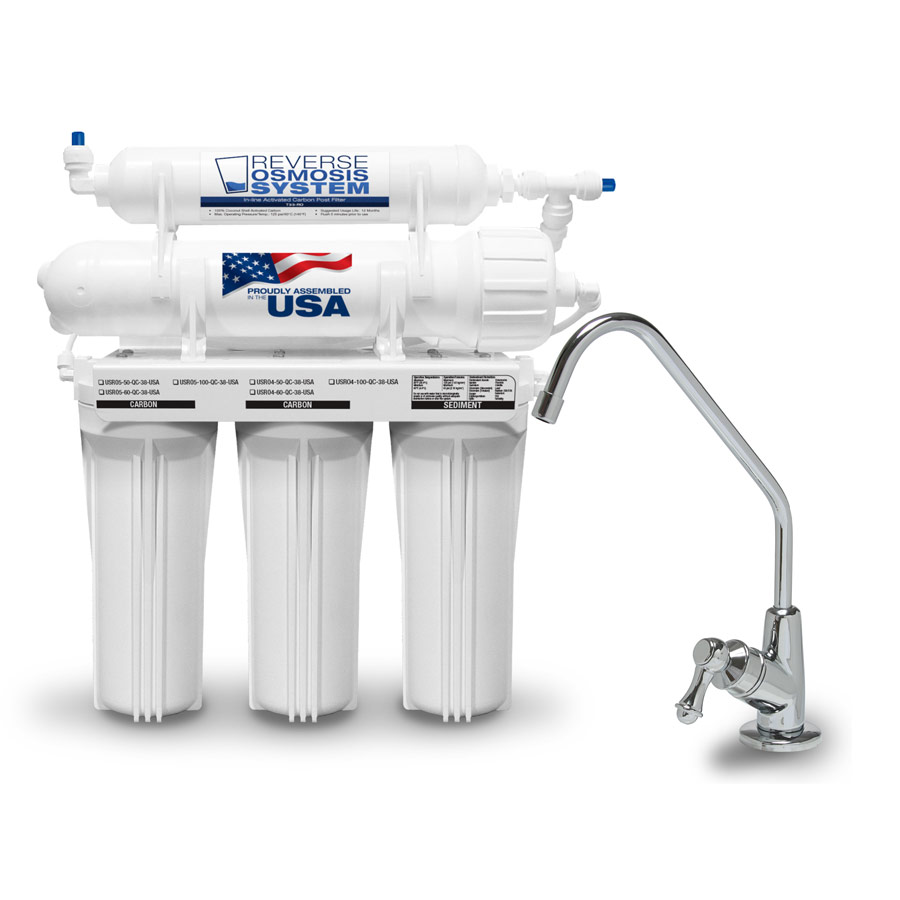 5 Stage Reverse Osmosis System - USRO4-50-JG